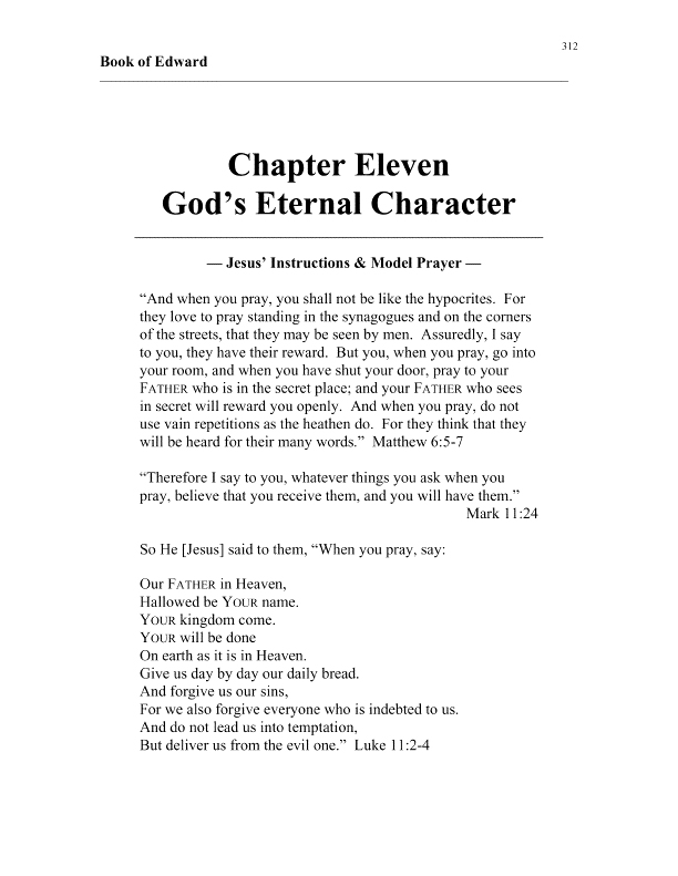 apostle edward's book of edward chapter 11 cover page