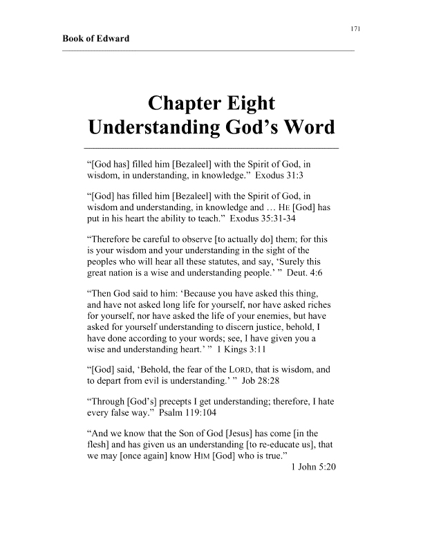 apostle edward's book of edward chapter 8 cover page